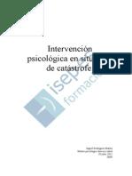 Intervencion Psicologica en Situacion de Catastrofe