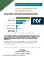 INTENCIÓN DE VOTO A PRESIDENTE 2015