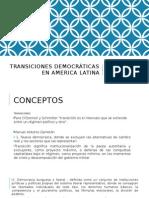 Transiciones Democráticas en America Latina