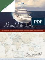 Princess Cruises Schweiz - Routenübersicht Januar 2010 bis April 2011