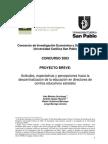 Actitudes, expectativas y percepciones hacia la descentralización de la educación en directores de centros educativos estatales