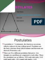 postulates