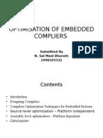 optimisation of embeded compilers
