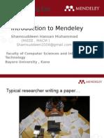 Mendeley Presentation