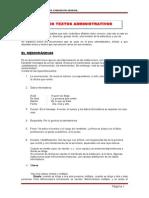 Textos Administrativos