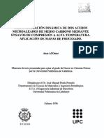 caracterizacion dinamica de dos aceros microaleados mediante ensayos de compresion