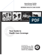 Americorps Vista/NCCC Member Health Care Guide  |   A9R102healthcareguide