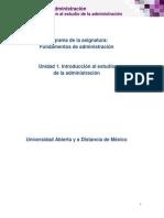 Unidad 1. Introduccion Al Estudio de La Administracion_Contenido