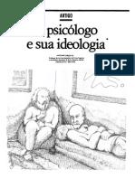 Artigo - O Psicologo e Sua Ideologia