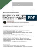 Lista Completa de LivrosLISTA COMPLETA DE LIVROS DA PNL Da Pnl