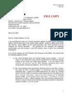 Letter to USDA - 032406