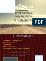 app reviews as they relate to k-12 standards chrome