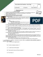 Prova Mensal - 8º - Gramática Olga IITRI 2015