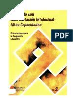 Alumnado con superdotación intelectual_altas capacidades_Orientaciones para la respuesta educativa