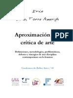De La Torre Amerighi, Iván. Aproximación a La Crítica de Arte
