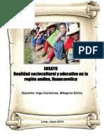 Realidad educativa en la región Huancavelica