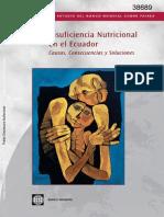 Insuficiencia Nutricional en El Ecuador