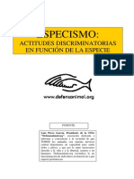 Defensanimal org - Especismo