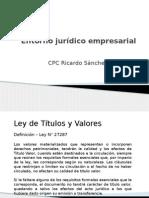 Entorno Jurídico Empresarial - Ley de Titulos y Valores