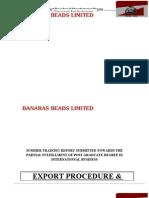 Export Procedure & Manufacturing Process
