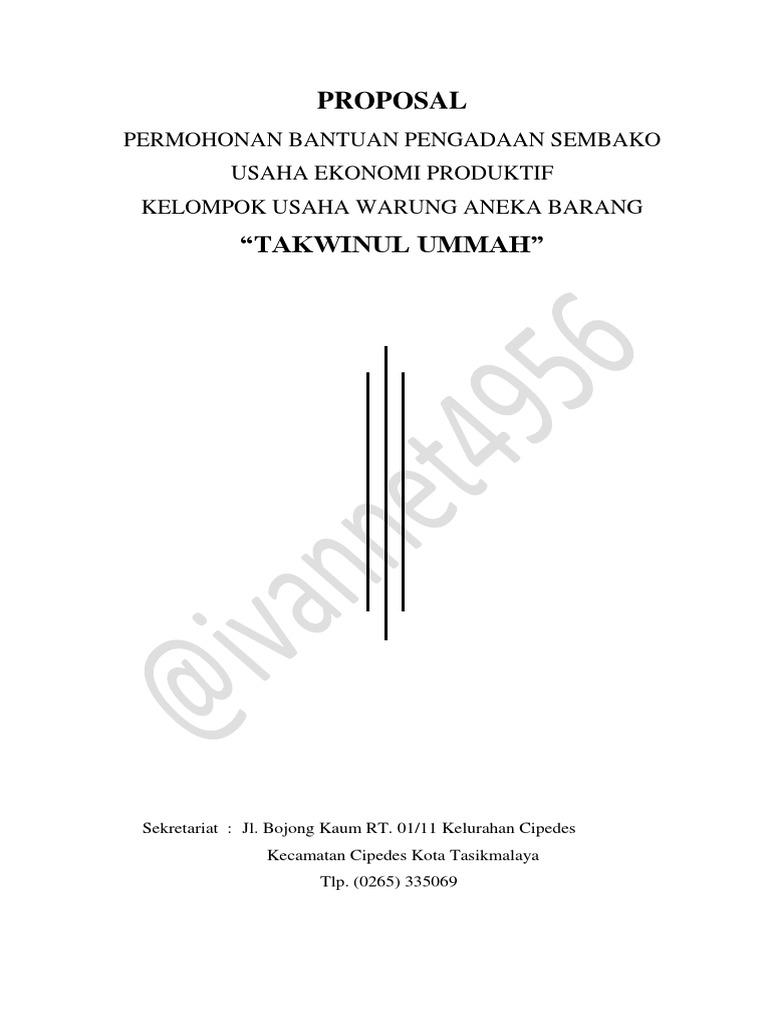 Proposal Permohonan Bantuan Pengadaan Sembako
