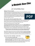 Citric Acid and Kidney Stones