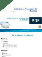 Nuevas Tendencias en Extraccion en Fase Solida (SPE)