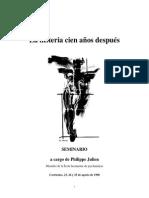 Philippe Julien  (1996) Seminario. La Histeria Cien Años Después