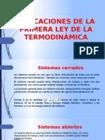 Aplicaciones de La Primera Ley de La Termodinámica