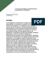Análisis de La Política de Crédito y Administracion Financiera de La Empresa
