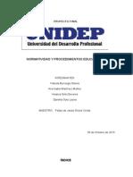 Proyecto de normatividad y procedimientos educativos