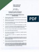 July 2006 Bar Exam Louisiana Code of Civil Procedure