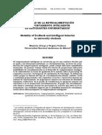 MODALIDAD DE LA RETROALIMENTACIÓN Y COMPORTAMIENTO INTELIGENTE EN ESTUDIANTES UNIVERSITARIOS