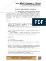 Bases Convocatoria 2016-1
