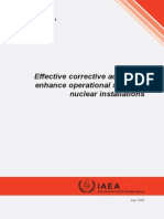 Effective Corrective Actions to Enhance Operational Safety of Nuclear Installations 2005