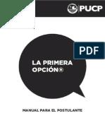 Manual Para El Postulante y Su Familia - La Primera Opción 2015