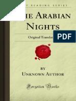 The Arabian Night - 1001 Nights - Unknown Writer
