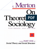 1967 - On Theoretical Sociology. Five Essays, Old and New