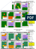 School Calendar 2009-2010;2010-2011