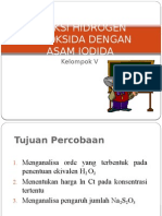 Reaksi Hidrogen Peroksida Dengan Asam Iodida