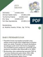 Ppt Cr Tonsilitis