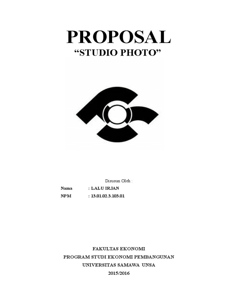 Proposal Usaha Studio Photo Mini