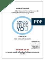 Market Research - E-Cigarette - Final - Group 10
