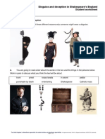 Shakespeare Disguise and Deception Student Worksheets