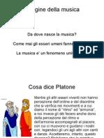 1. Le Origini Della Musica