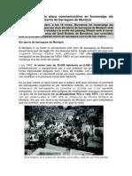 Dossier sobre la inauguració de la placa monument en homenatge als veïns dels barris de barraques de Montjuïc