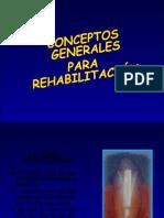 Conceptos generales para rehabilitación oral