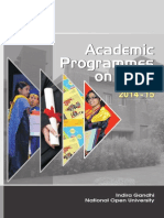 Academic Programmes for Mail Ignou
