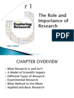 Week 1_The Role and Importance of Research