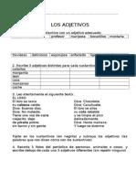 ADJETIVOS( SEGUNDO, TERCERO DE PRIMARIA)